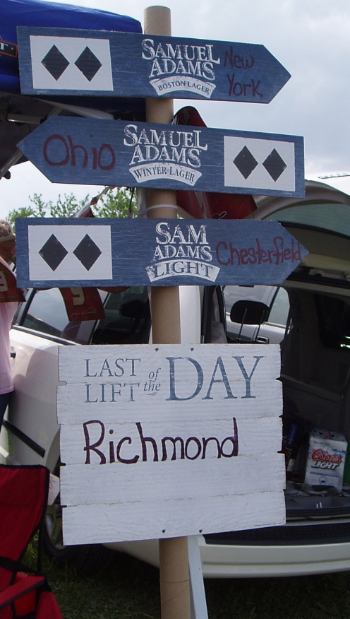 We always enjoy decorating our tailgating spot at Richmond International Raceway.