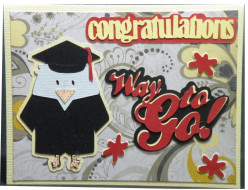 Easy to Make Homemade Graduation Card with a Cricut machine.