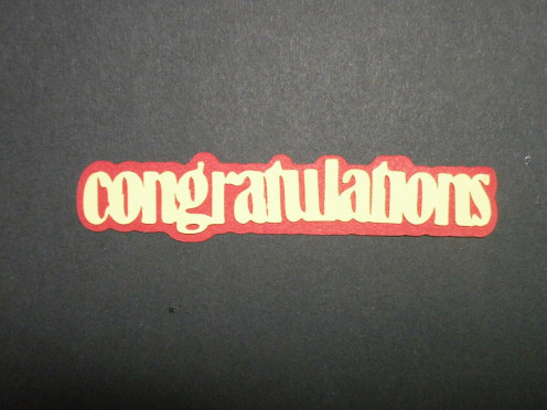 Congratulation layers adhered