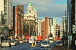 College Square East from Great Victoria Street, Belfast