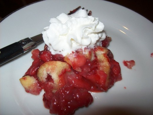 Mini Strawberry Cobbler with Whipped Cream