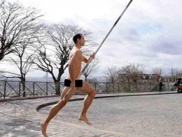 Naked Pole Vaulting