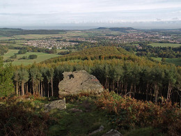 Hanging Stone from behind with Guisborough in the distance