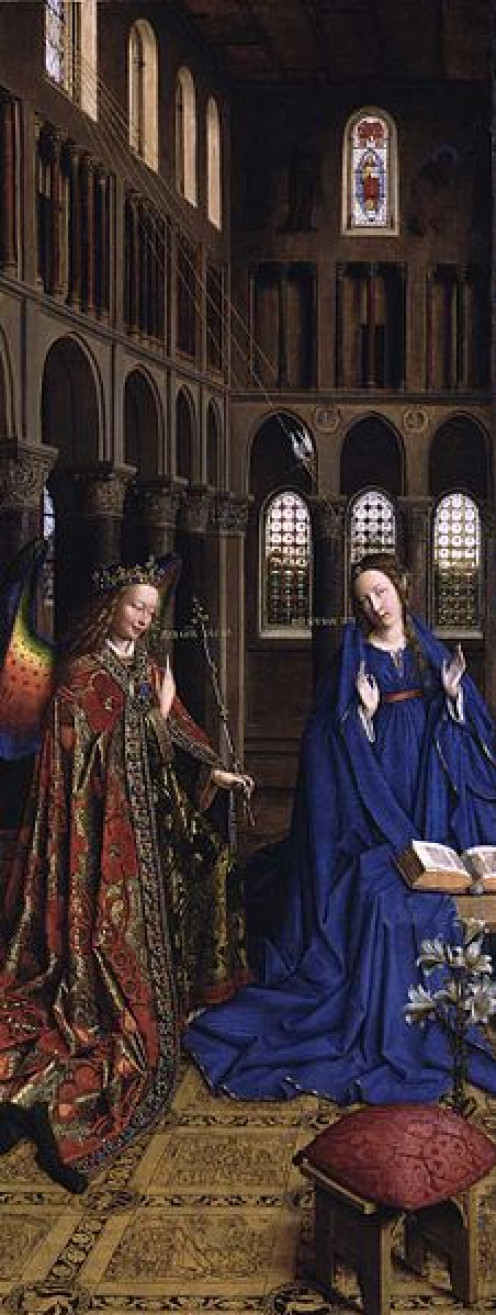"""Annunciation"" by Jan van Eyck"