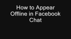 How to Appear Offline in Facebook Chat