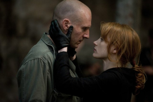Ralph Fiennes and Jessica Chastain