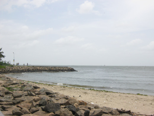 A beach at Fort Kochi.
