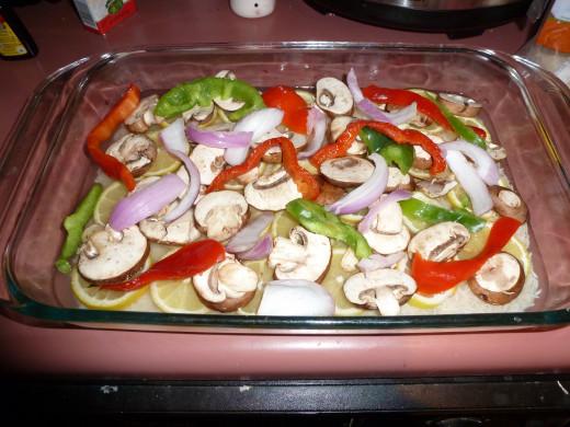 Step 3: Arrange the vegetables