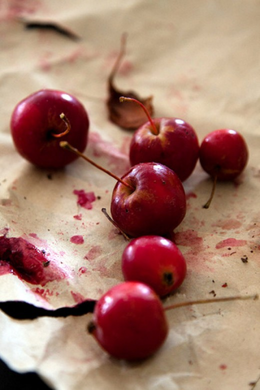 Fruit stain can be a problem. Take immediate action to remove them.