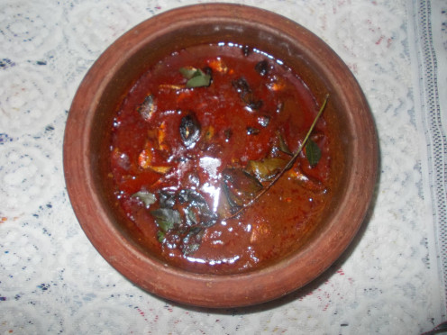 This fish curry is a special dish of  Kerala. Adding kokumstar enhances the taste.