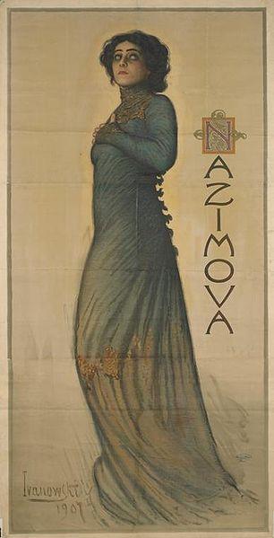 Alla Nazimova as Hedda Gabler, 1907