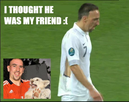 The Awkward moment when the cat has better teeth than Ribery
