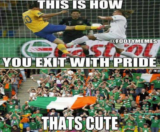 The comparisons between the manor of exit between Ireland and Sweden