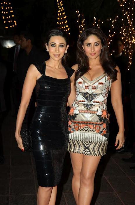 Kareena Kapoor with sister karishma Kapoor at Karan Johar's Birthday Party in June 2012