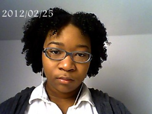 This is when I started to notice how short the front was compared to the rest of my hair.
