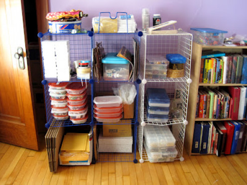 Take the time to evaluate and reorganize your supplies on a regular basis.