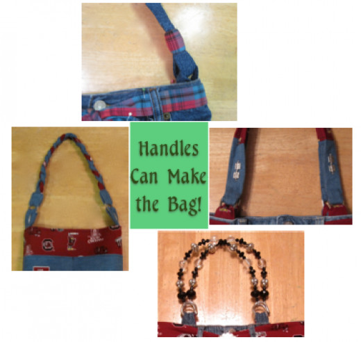 The humble handle provides a lot of creative opportunity when making one of these handbags.