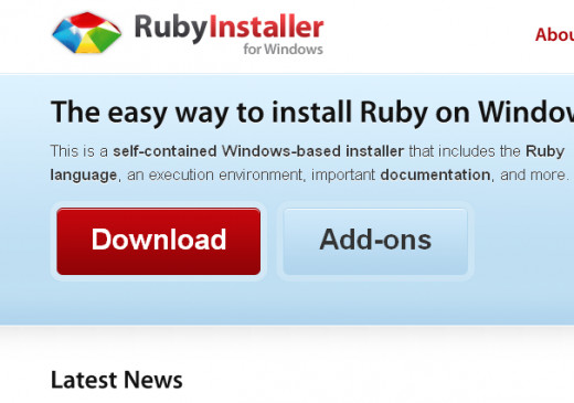 The RubyInstaller download page