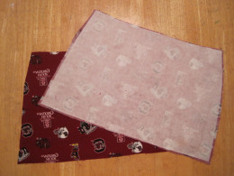 "The lining was then used as a pattern to cut the interfacing 1/4"" smaller all around."