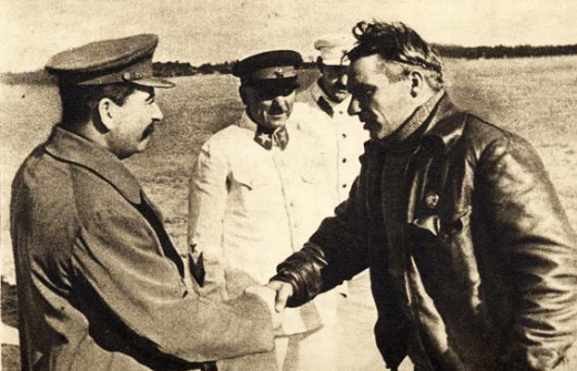 Stalin loved Chkalov. From a public domain