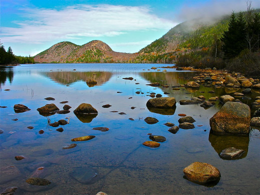 Bubble Pond is just one of the many quiet places found in Acadia National Park.