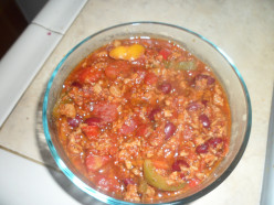 Simple, Quick and Healthy One Person Meal Recipe: Vegetarian Chili