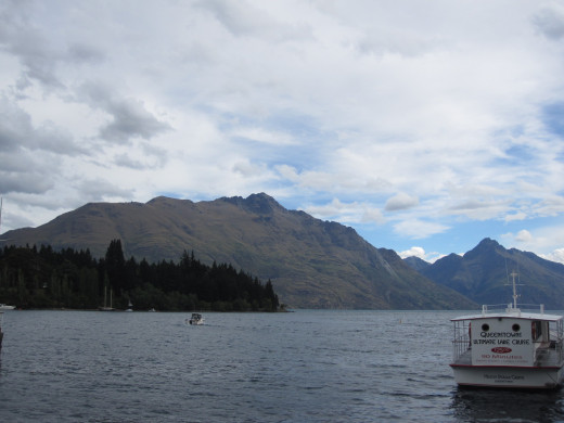 A view from the town of Queenstown
