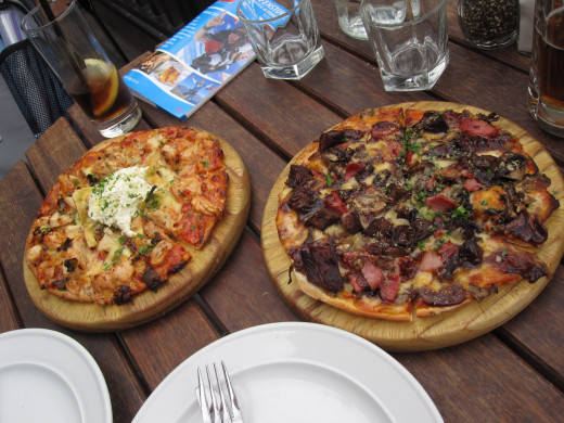 We ordered 2 delicious pizzas from Winnie's in Queenstown.