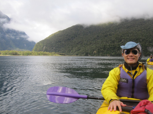 I enjoyed Milford Sound from a phenomenal view, right down at the water in a kayak.