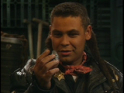 Lister - leather jacket, dreadlocks and a Scouse dialect - a Liverpudlian with attitude