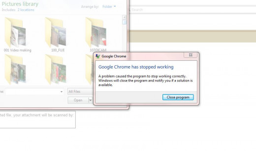 The crash continuing when attempting to upload an attachment in Yahoo Mail