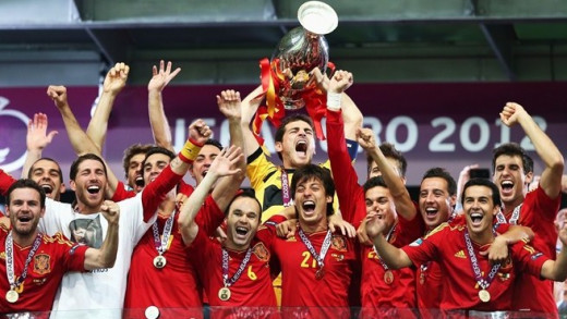 Spain Champions of Euro Cup 2012