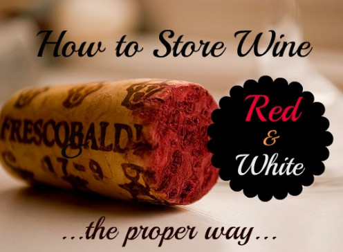 How to store red and white wine