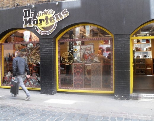 Dr. Martens store, 17-19 Neal Street, Covent Garden, London WC2H 9PU. What a wonderful place it is!