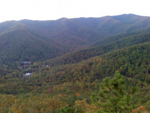 A View of the Montreat Cove from Lookout Mountain