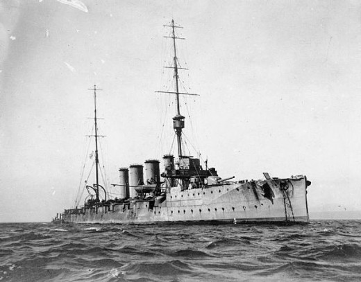 HMS Glasgow, survived the Battle