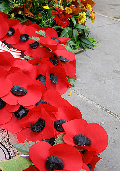 A display of Remembrance Poppies. Lest We Forget!