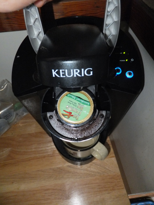 My Keurig with San Francisco Bay OneCup coffee.