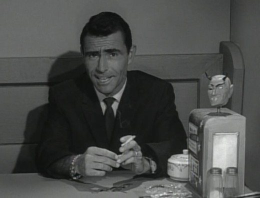Twilight Zone creator Rod Serling introducing an episode