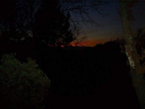 A beautiful sunset in the San Bernardino Mountains.