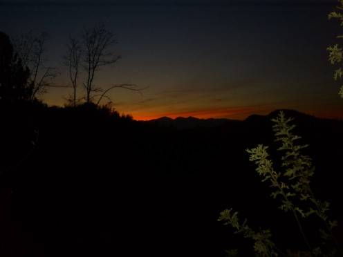 Another beautiful picture of a sunset in the San Bernardino Mountains.