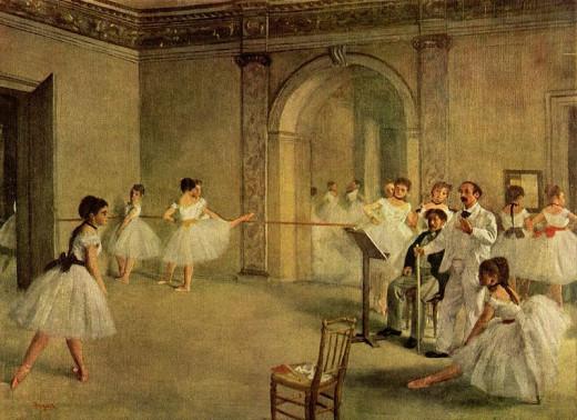 Edgar Degas (1834-1917) Dance Hall of the Opera in the rue Peletier