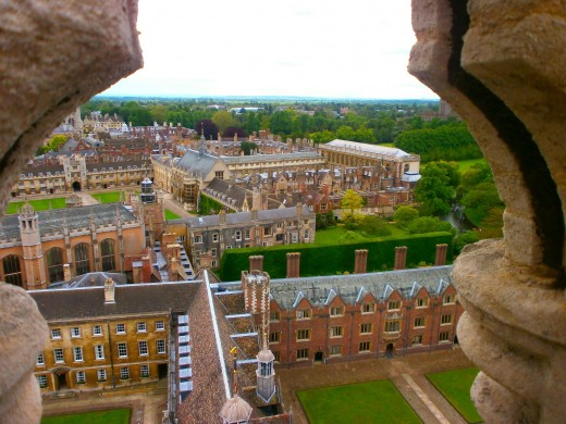 A breathtaking panorama of Cambridge, from the St John's College Chapel tower. Photo by Flysky