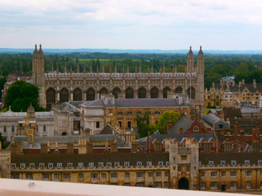 Roofs of Cambridge's colleges. Photo by Flysky