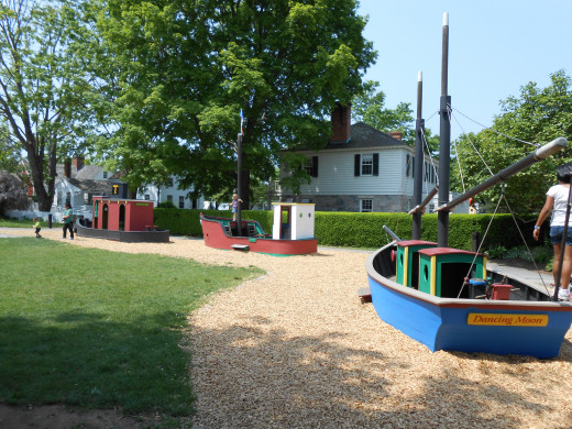 The boat playground for children offers a nice break for kids and parents alike.