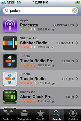 Locate the Podcasts app in the App Store.
