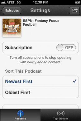 "Set the Subscription toggle to ""ON."""