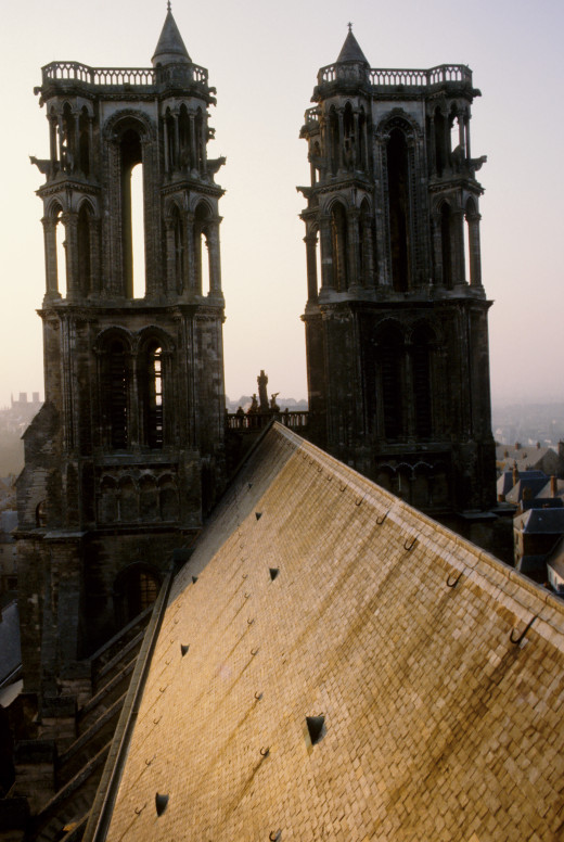 West towers, Laon Cathedral Source: