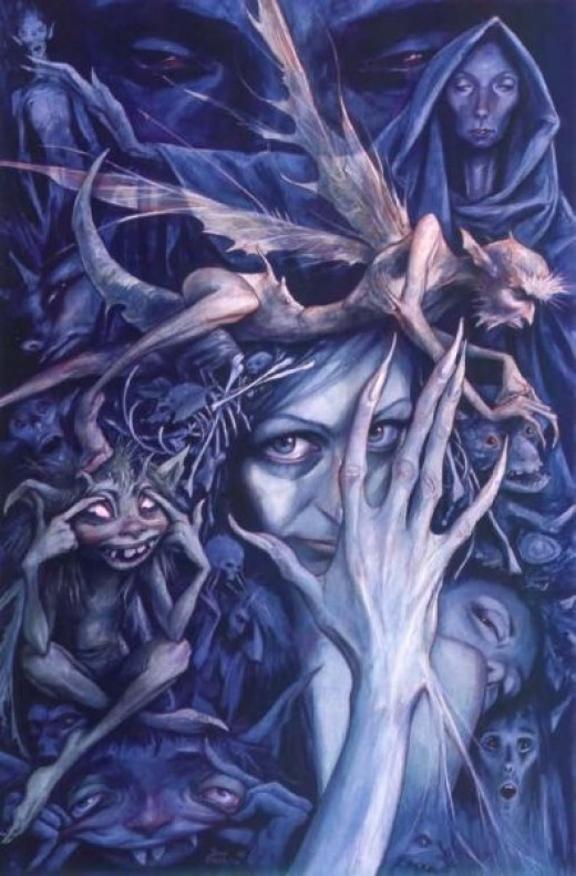 Goblins in Artwork by Brian Froud