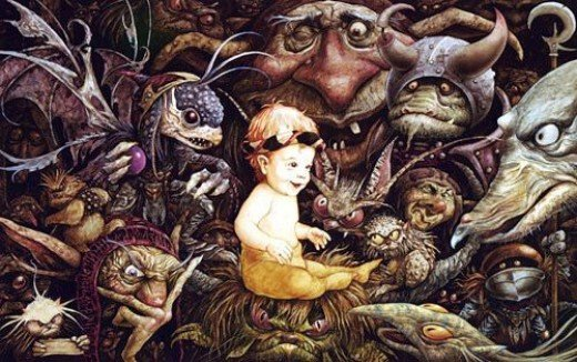 Brian Froud's artwork used in The Labyrinth